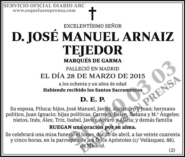 José Manuel Arnaiz Tejedor